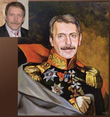 Настоящий портрет маслом на заказ в Липецке…