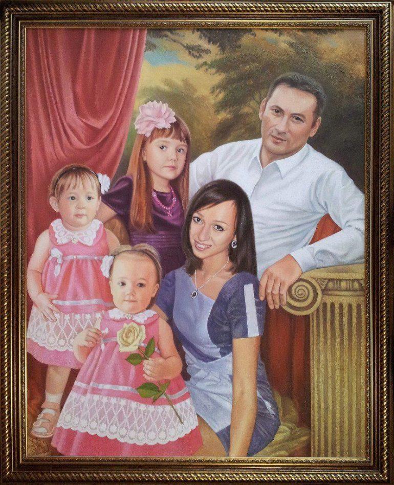 Семейный портрет маслом в Липецке — правильная традиция…