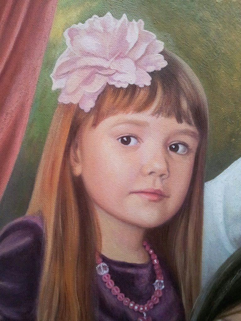 Семейный портрет на холсте Липецк