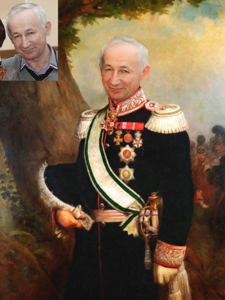 Где заказать исторический портрет по фото на холсте в Липецке?