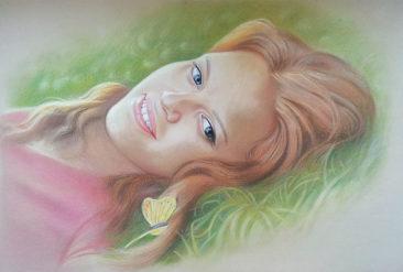 Настоящий портрет пастелью для любимой девушки в Липецке, просто и со вкусом!