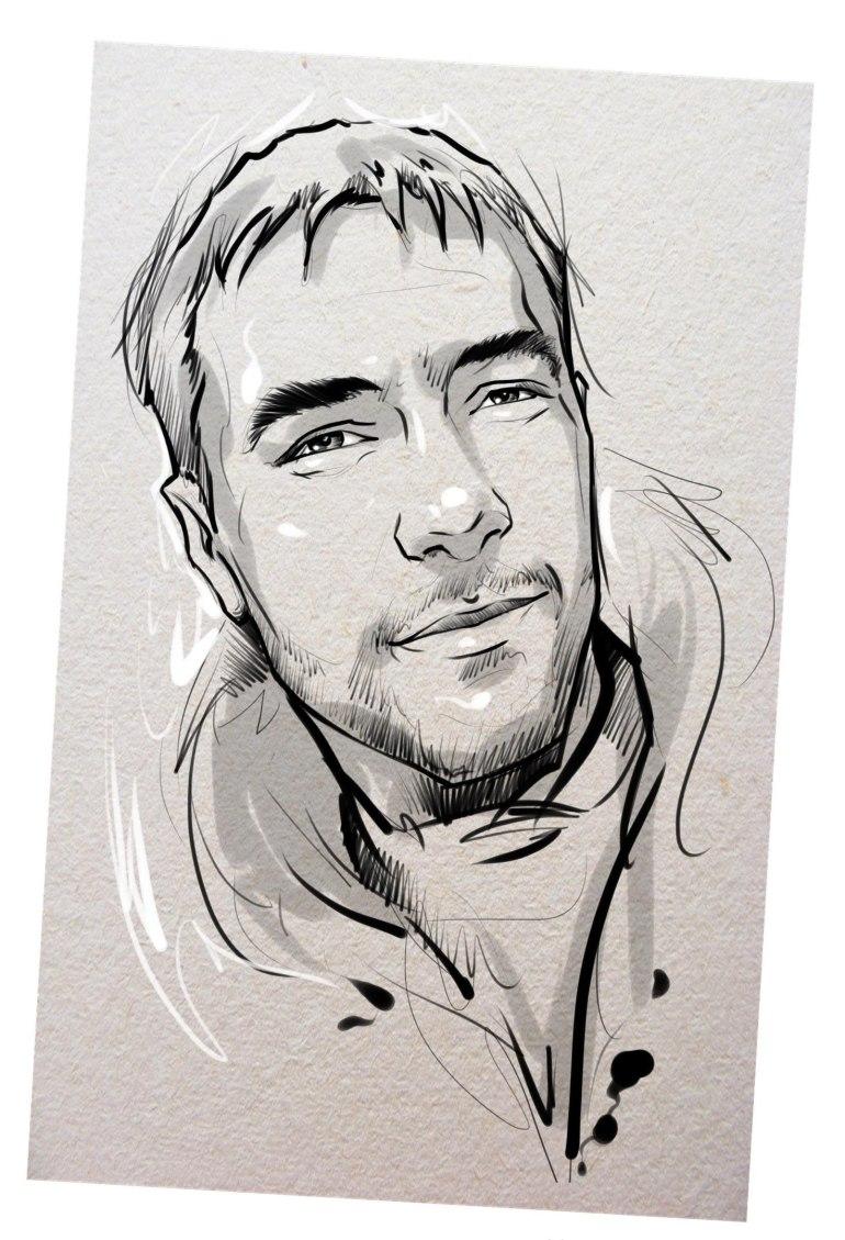 Портрет карандашом любимому мужу в Липецке…