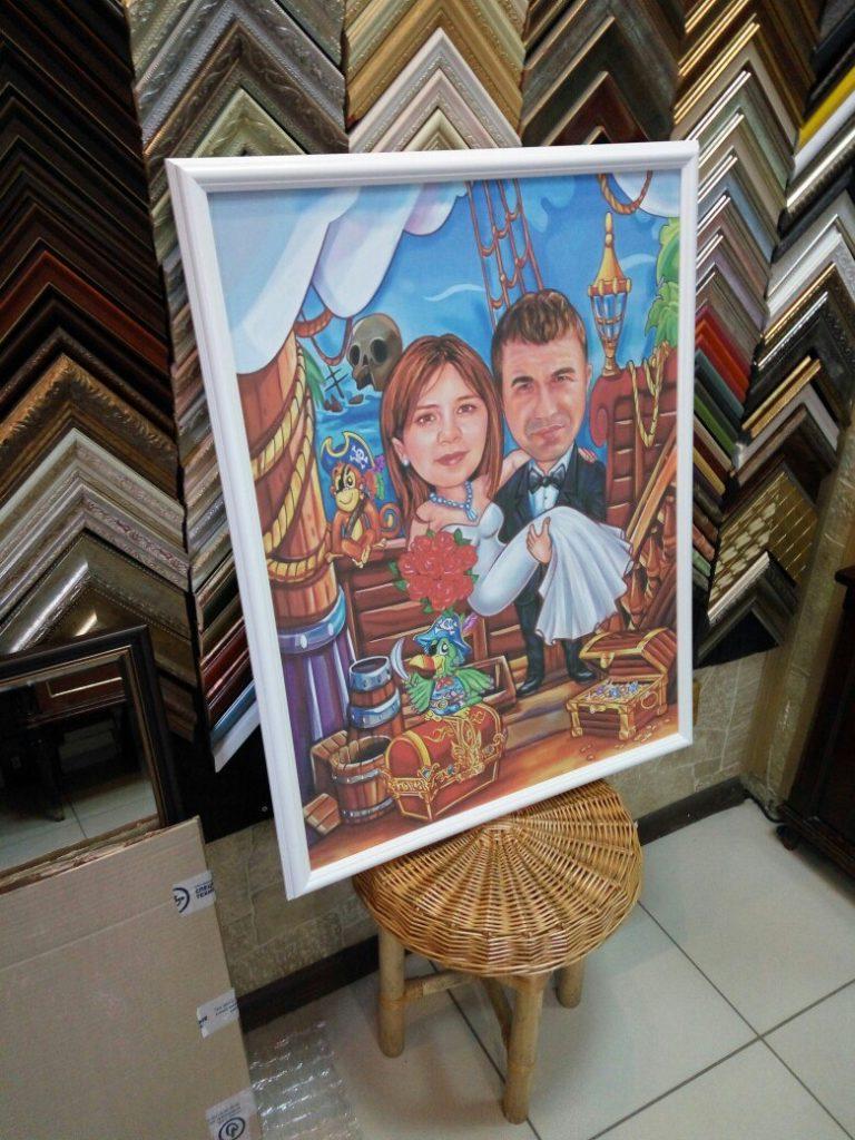 портрет шарж на заказ в Липецке
