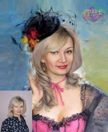Заказать арт портрет по фото на холсте в Липецке