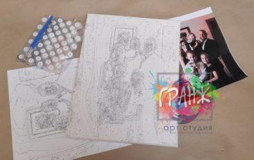 Картина по номерам по фото, портреты на холсте и дереве в Липецке